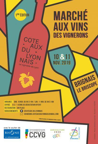 Affiche marché Coteaux du Lyonnais