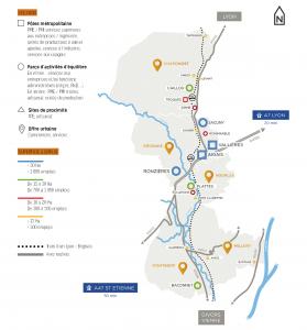 Carte des zones d'activité