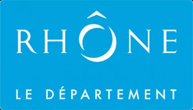 logo cartouche bleu logo blanc