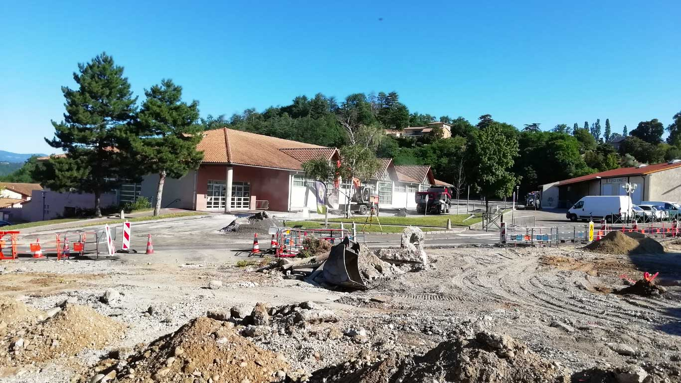 chantier giratoire Louis Querbes